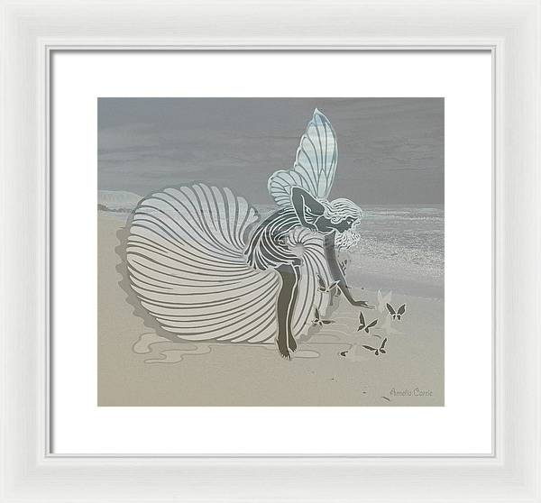 Angel with Butterflies - Framed Print