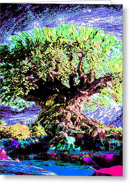 Large Old Tree - Greeting Card