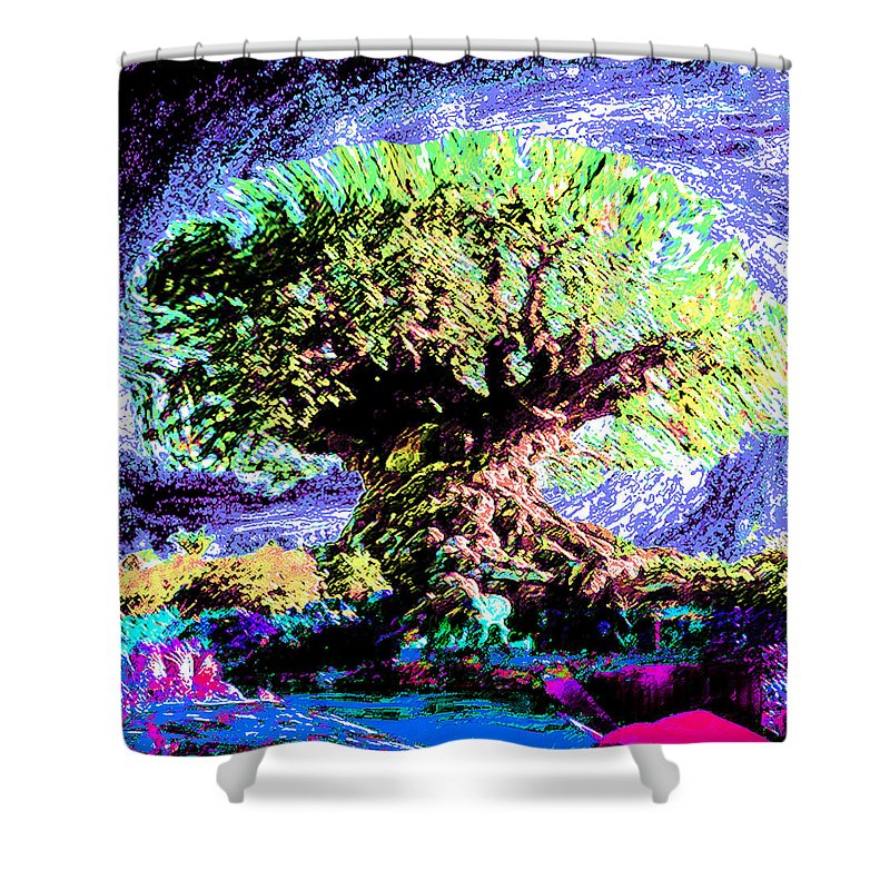Large Old Tree - Shower Curtain