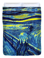 Scream in Starry Night Colors - Duvet Cover