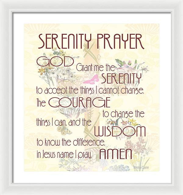 Serenity Prayer - Framed Print