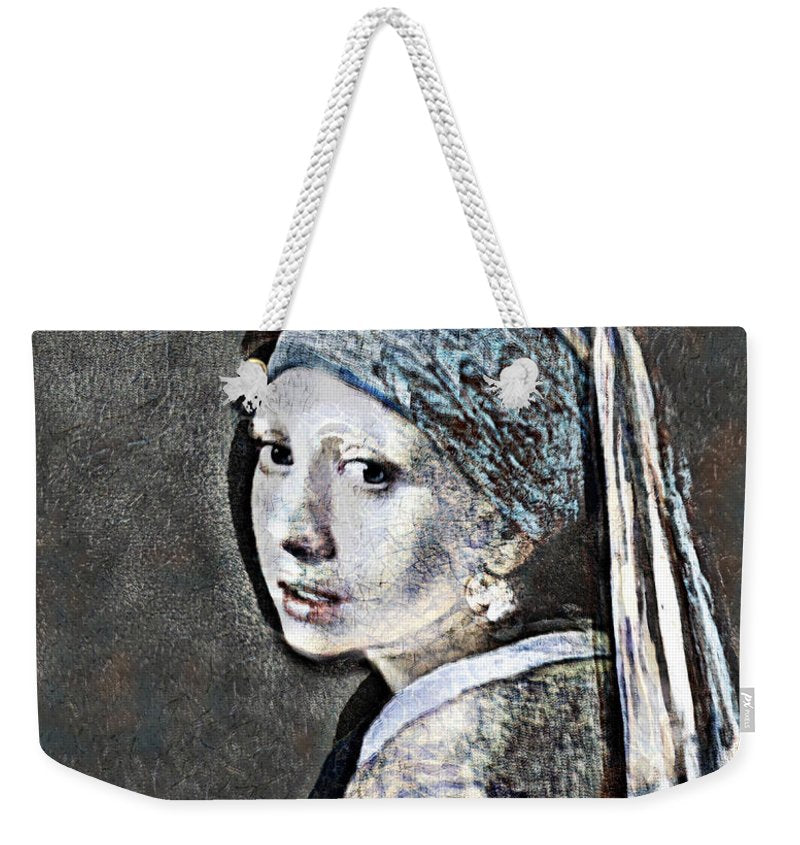 Slightly Modified Girl with a Pearl - Weekender Tote Bag