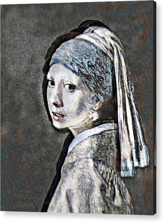 Slightly Modified Girl with a Pearl - Acrylic Print