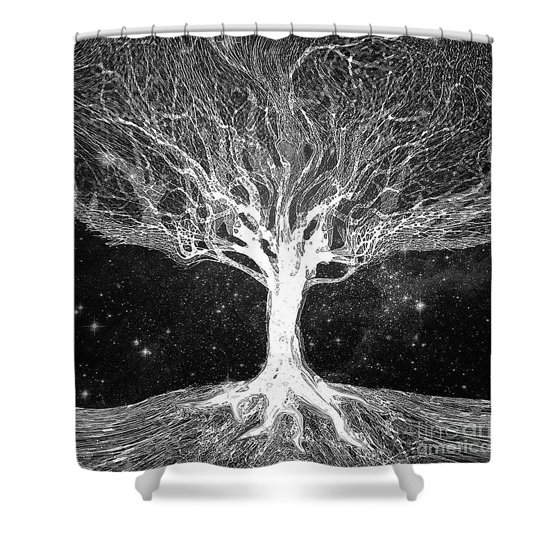 Starry Night Tree of Life - Shower Curtain