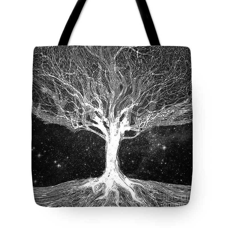 Starry Night Tree of Life - Tote Bag