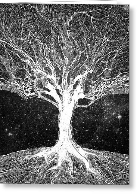 Starry Night Tree of Life - Greeting Card