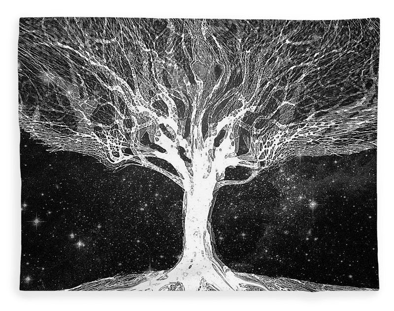 Starry Night Tree of Life - Blanket
