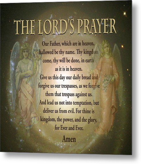 The Lord's Prayer - Metal Print