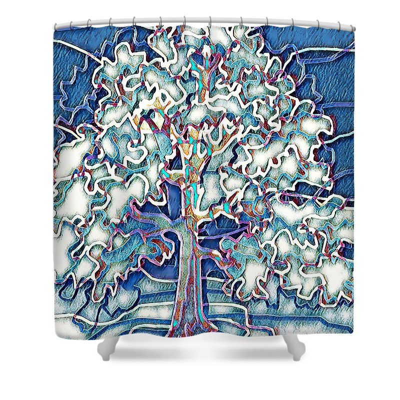 Tree Abstract - Shower Curtain