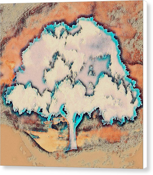 Tree Abstract in Orange - Canvas Print