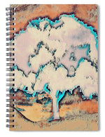 Tree Abstract in Orange - Spiral Notebook