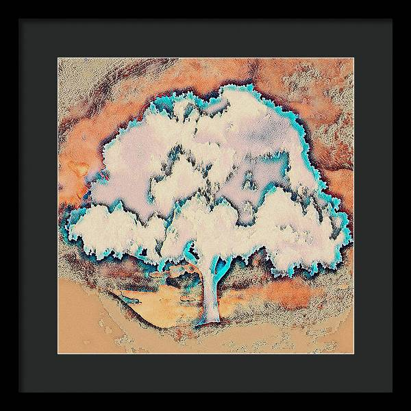 Tree Abstract in Orange - Framed Print