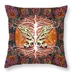 Tree and Butterfly Silhouette - Throw Pillow