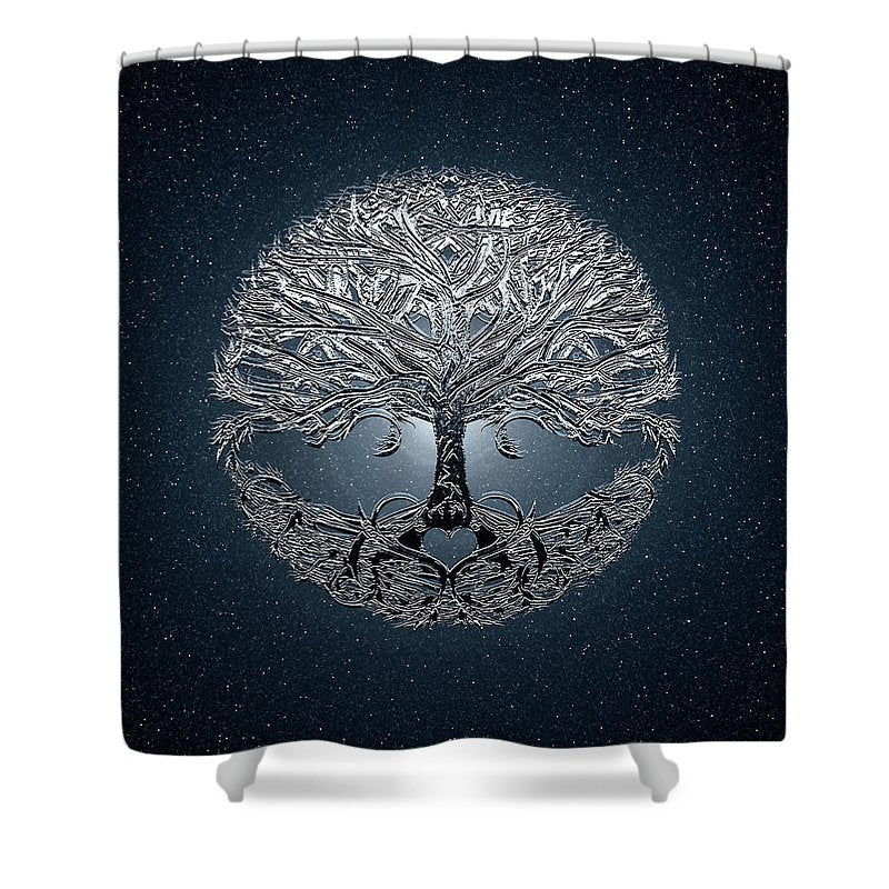 Tree of Life Nova Blue - Shower Curtain
