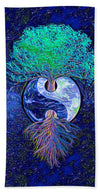 Tree of Life Yin Yang - Beach Towel