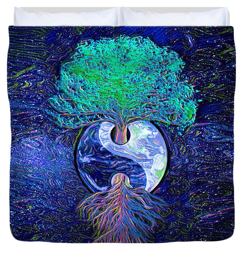 Tree of Life Yin Yang - Duvet Cover