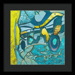 Tropical Breeze Abstract - Framed Print