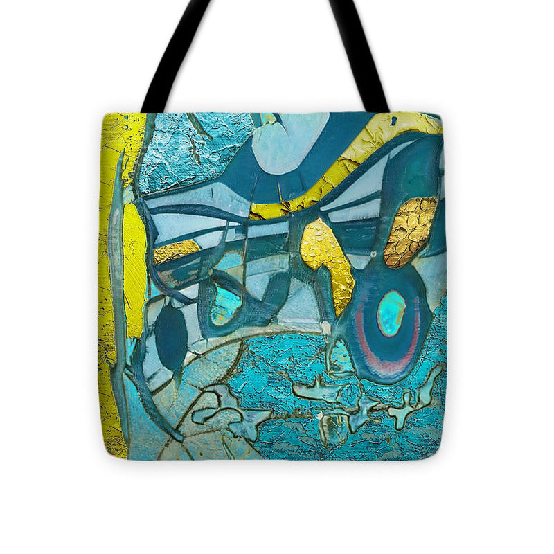 Tropical Breeze Abstract - Tote Bag