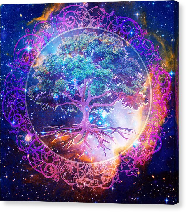 Tree of Life in Space - Canvas Print