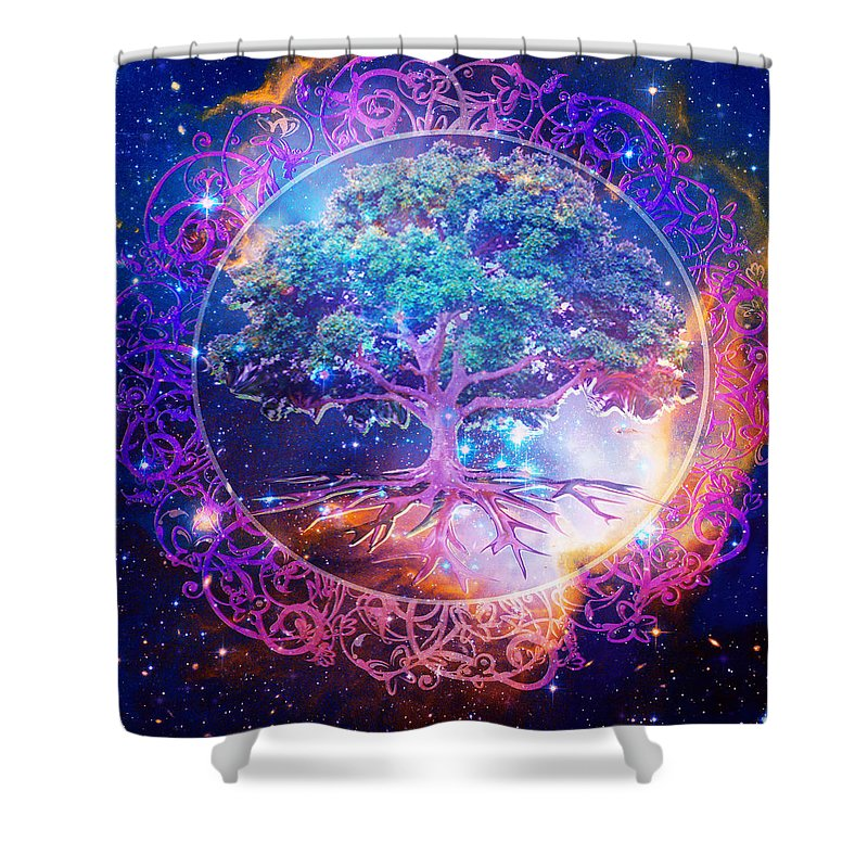 Tree of Life in Space - Shower Curtain