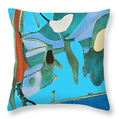 Wilderness Abstract - Throw Pillow