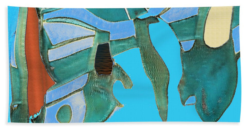 Wilderness Abstract - Beach Towel