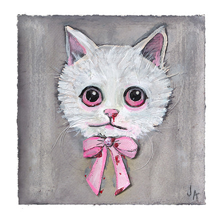 """Snowflake"" Cat - Art Print"