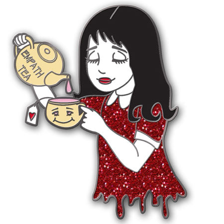 Empath Tea (Red Glitter) - Pin