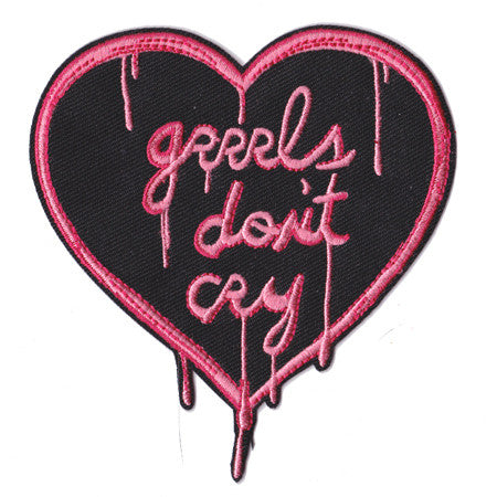 Grrrls Don't Cry - Embroidered Patch