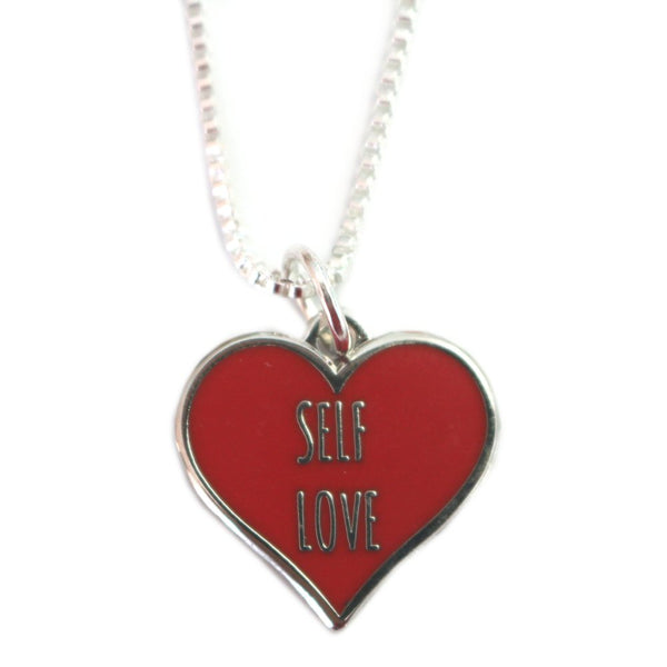 Self Love Charm on Silver Plated Necklace