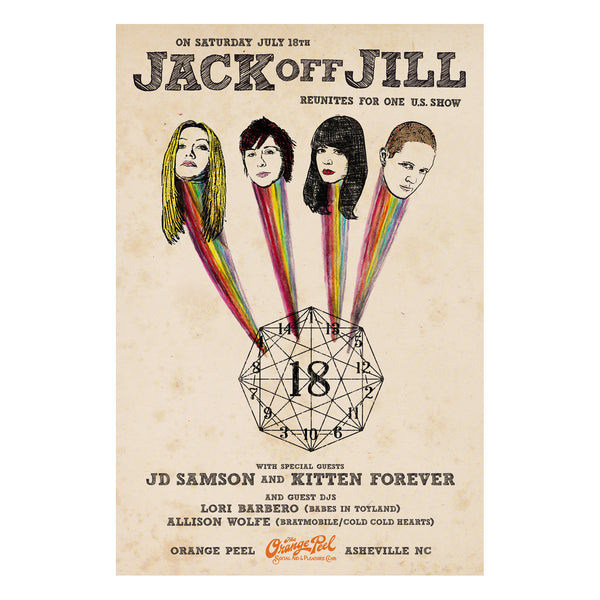 "Jack Off Jill ""Orange Peel"" 20""x30"" Poster"