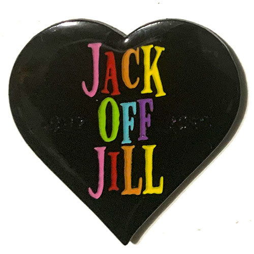 Jack Off Jill (Rainbow photodiode logo) - Pin