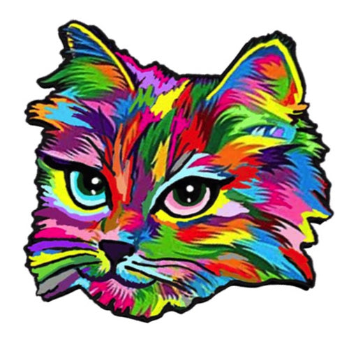"""Inclusive Cat Rainbow Cat"" - Pin"