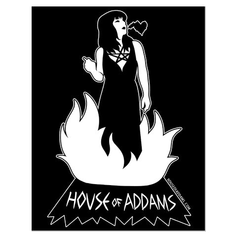 "House Of Addams ""Fire Girl"" - Sticker"