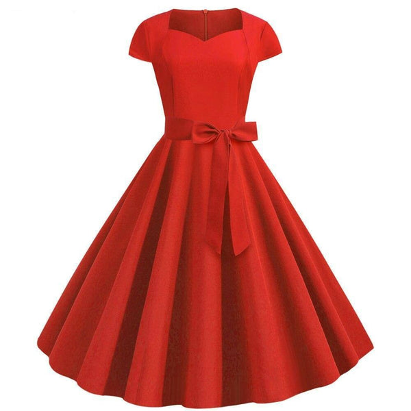 Robe Année 60 Rouge