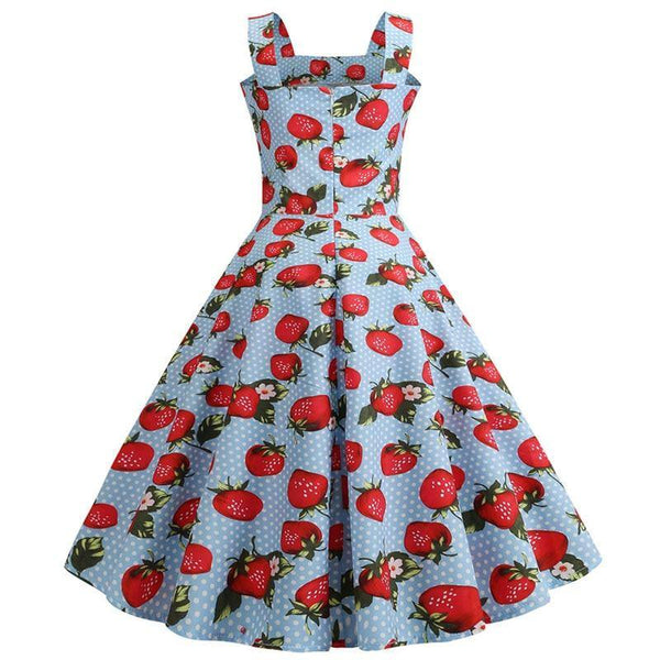 Robe Pin Up Fraise