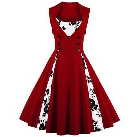 Robe Pin Up Grande Taille Rouge