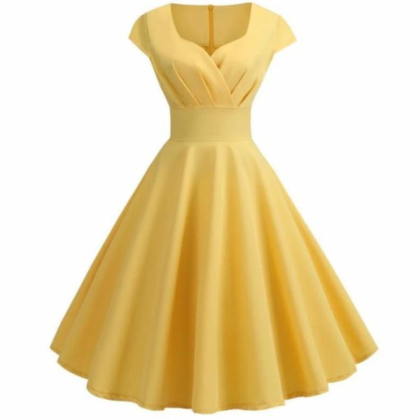 Robe Pin Up Jaune