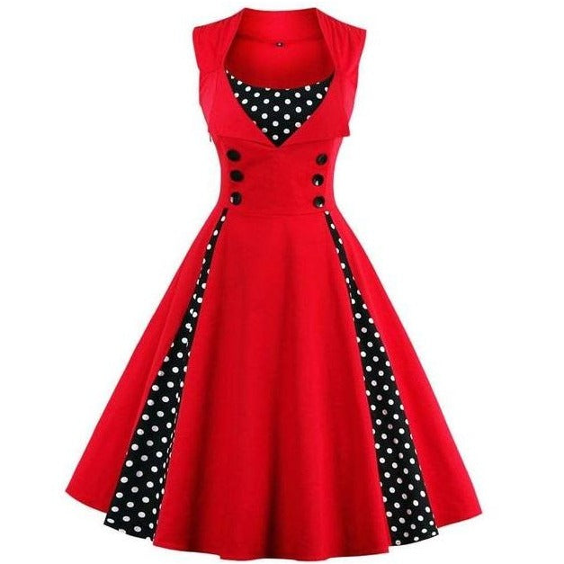 Robe Pin Up Marin Rouge