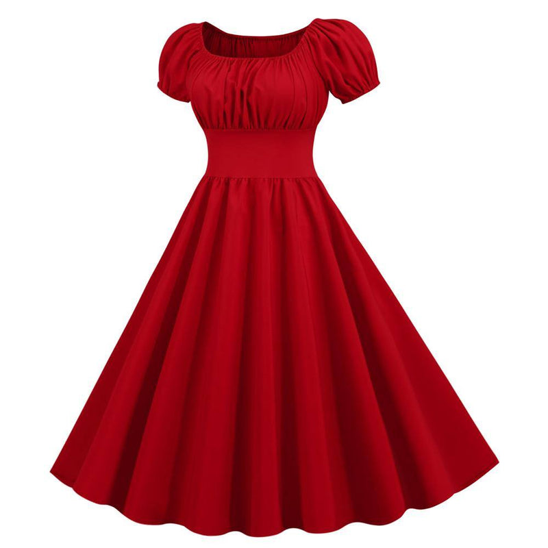 Robe Pin Up Rouge Uni