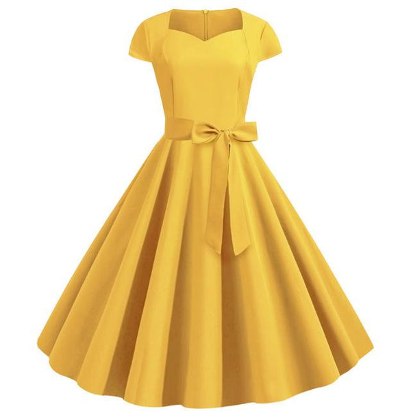 Robe Rockabilly Jaune