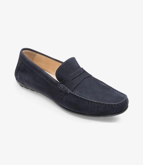 Goodwood<br> Navy suede<br> Ancho: F  / Goma Loake