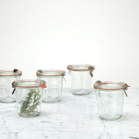Weck Canning Jar 9.8 oz, tall, Set of 5