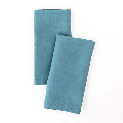 Washed Linen Napkin, Aqua