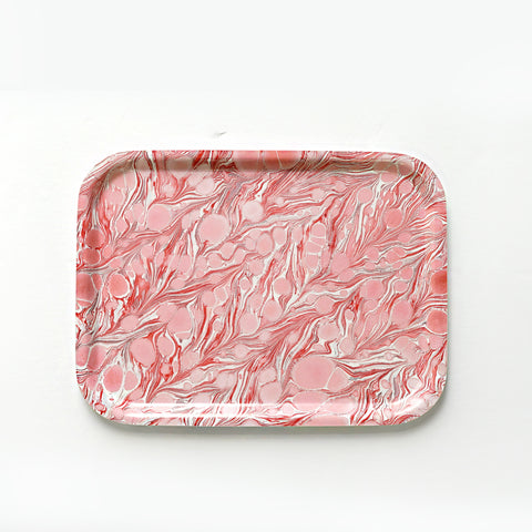 Rectangular Coral Saga Tray