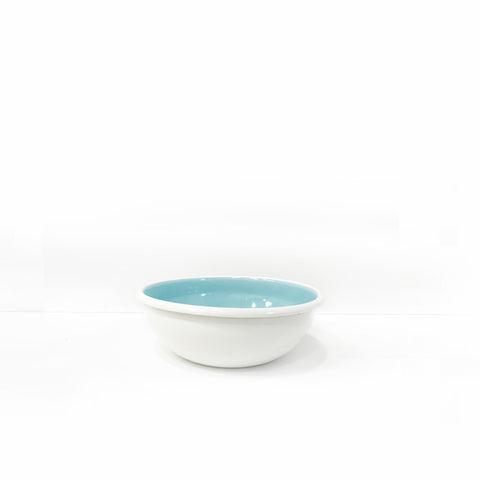 Enamel Snack Bowl, Light Blue