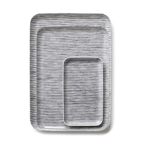 Grey Stripe Trays