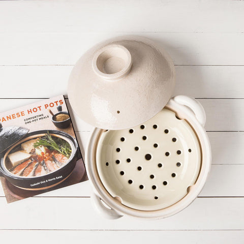 Donabe Clay Rice Cooker with book
