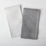 Jacquard Tea Towel, Silver