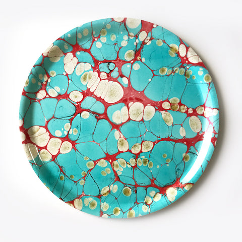 Large Round Turquoise Dream Tray